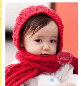 Шапочка-капор-шарф
