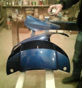 Покраска и ремонт скутеров