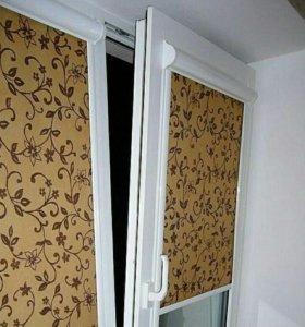 Жалюзи, рулонные шторы. окна, двери, откосы