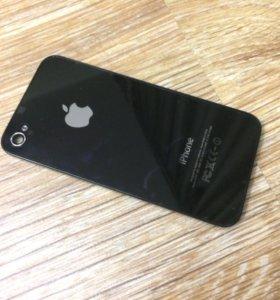 Задняя крышка iPhone 4s чёрный (оригинал). Новая.