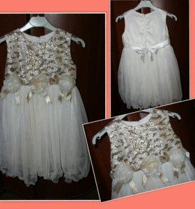 Нарядное праздничное платье , рост 116