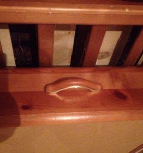 Кроватка детская+матрас,бортики