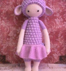 Вязаные игрушки ручной работы, куклы lalylala