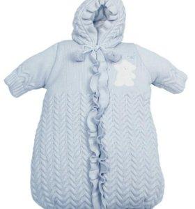 Конверт linas baby 62 размер голубой