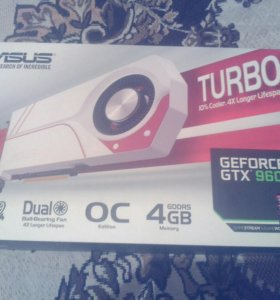 Видеокарта ASUS GTX960 4gb TURBO