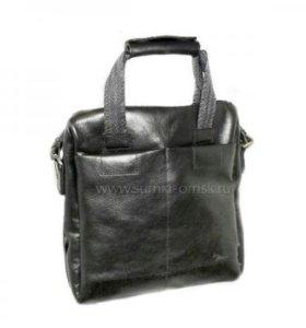 Мужская новая сумка, нат.кожа