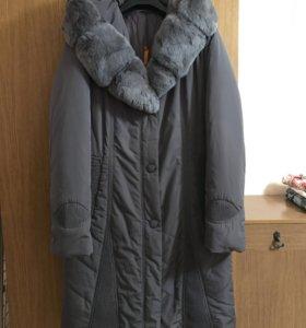 Пальто новое женское с кроликом