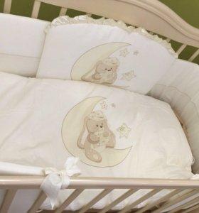 Бортики и пастелька в кроватку