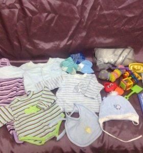 Для малышей до года пакетом
