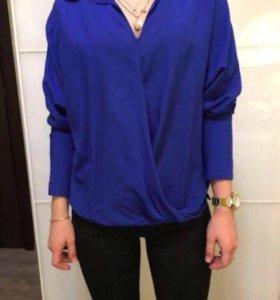 Новая блузка синего цвета H&M