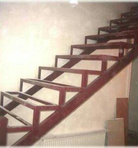 Металлокаркас для лестниц