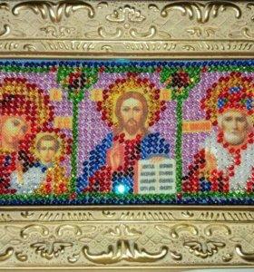 Икона триптих многозначимых святых