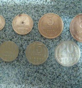 Набор монет СССР 1985 г.