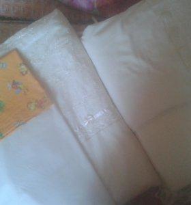 Бортики, балдахин, одеяла, постельное детское