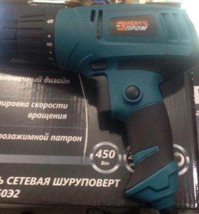Дрель-шуруповёрт сетевая ДШ-450Э2 Энергопром