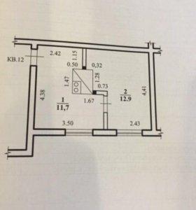 Продам 1-комнатную неблагоустроенную квартиру