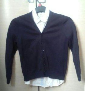 Кардиган с рубашкой школьные Sela