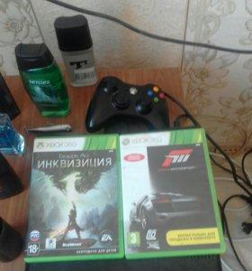 Xbox 360 2 диска и14 игр на приставке.