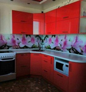 Кухня Красный Металлик Глянец