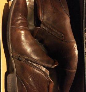 Мужские кожаные ботинки!