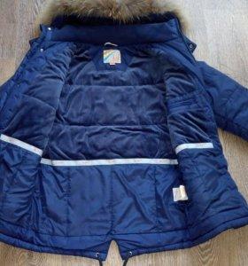 Зимняя куртка рост 140