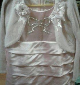 Нарядное платье в подарок кофточка р-110