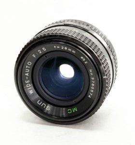 Объектив MC Sun wide-auto 28mm f/2.5 PK
