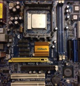 Материнская плата ASRock K8Upgrade-VM800 с процес
