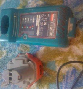 Зарядное устройство и аккумулятор 14,4в Макита