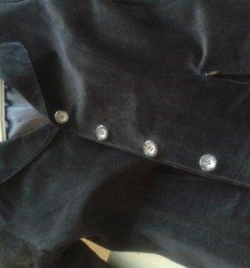 Пиджак натур.замша 44