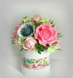 Букеты из роз конфет