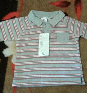 Рубашка Поло новое 74 р-р с длинным рукавом