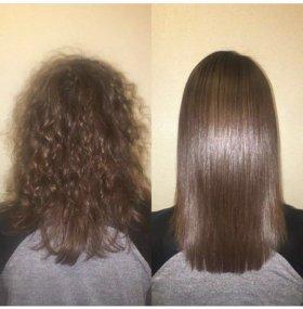 Кератиновое восстановление+лечение волос