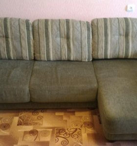 Уголовой диван и кресло