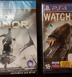 Игры PS4 for honor deluxe edition & watch dogs