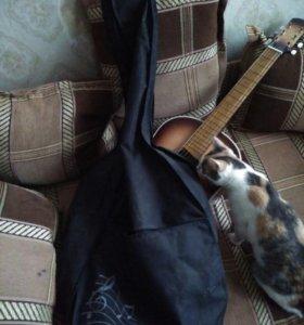 Гитара, акустика с чехлом