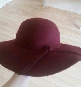 Шляпа шерсть цвет марсала