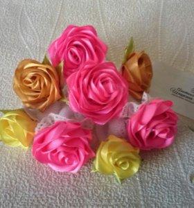 Резиночки для волос с розами