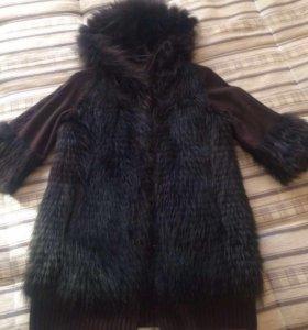Меховое пальто( енот)