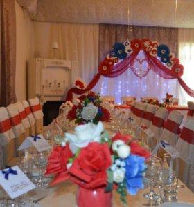 Оформление свадеб тканью,шарами, выездная регистра