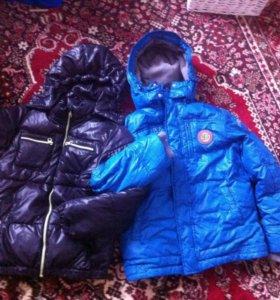 2 куртки на мальчика 7-9 лет