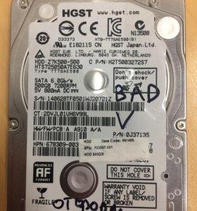 HDD 2.5 500gb HItachi не рабочий!!!