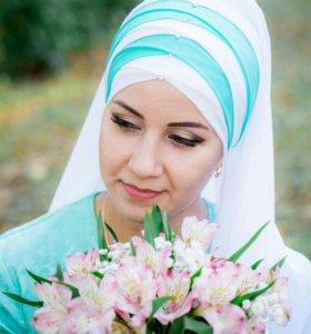 Завязывание платка на никах,макияж