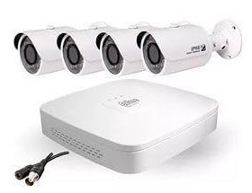 Видеонаблюдение 4 камеры на улицу