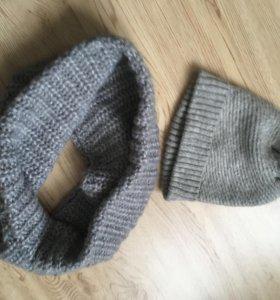 Комплект шапка+снуд