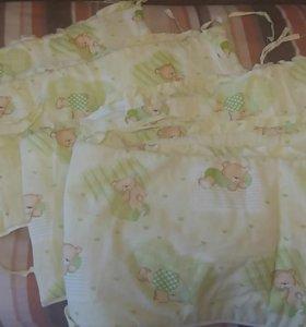 Бампер для детской кроватки