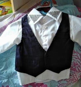 Рубашка, жилетка