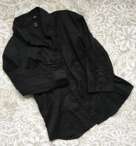 H&M чёрная рубашка 3/4 рукав