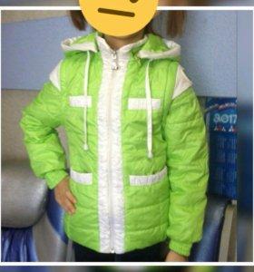 Куртка- трансформер на весну для девочки рост110