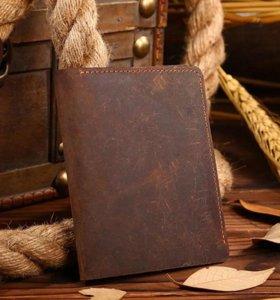 Кошелек мужской портмоне из натуральной кожи